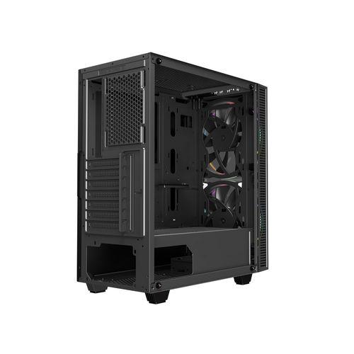 Caja Semitorre Coolbox Deeprunner S/Fuente A-Rgb Negra | Quonty.com | COO-DGC-A193-0