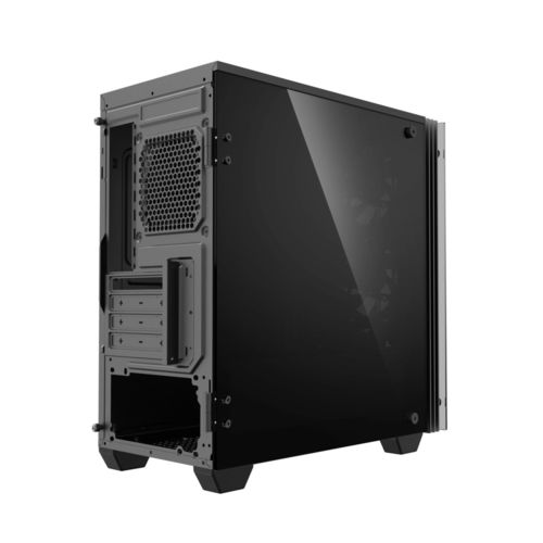 Caja Minitorre Coolbox Deeprainbow S/Fuente A-Rgb Negra | Quonty.com | COO-DGC-M192-0