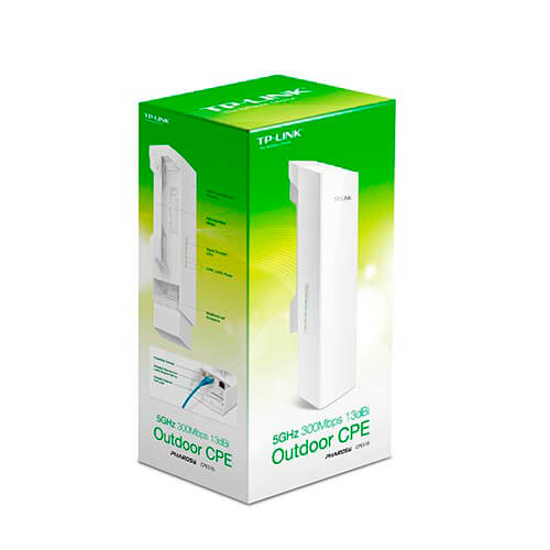 PUNTO ACCESO TP-LINK CPE510 WIFI-N/300MBPS ANTENA-13DBI DIRECCIONAL EXTERIOR   Quonty.com   CPE510