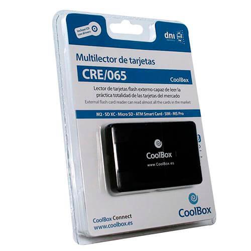 MULTILECTOR EXTERNO USB2.0 COOLBOX CRE-065 TARJETAS FLASH / DNIE | Quonty.com | CRE-065