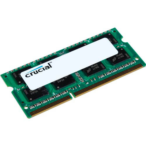 MEMORIA CRUCIAL SO-DIMM DDR3 4GB 1600HZ CL11 1.35V SR | Quonty.com | CT51264BF160B