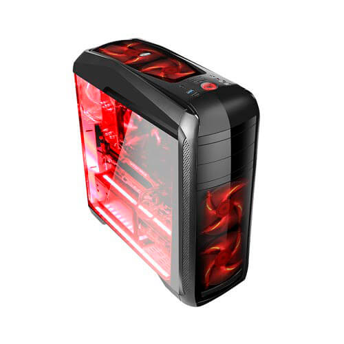 CAJA SEMITORRE/ATX COOLBOX DEEPSTING S/FUENTE USB3.0 C/VENTANA METAL NEGRA | Quonty.com | DG-C9K-BK-0