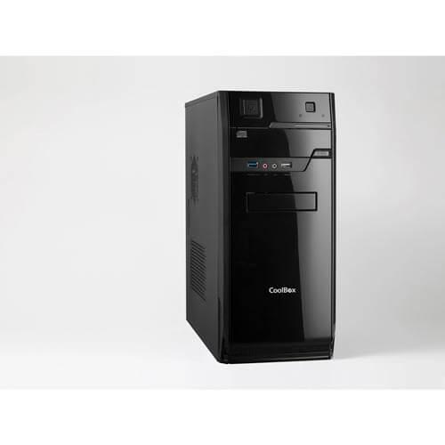 CAJA SEMITORRE/ATX COOLBOX F70 500W USB3.0 METAL NEGRA | Quonty.com | COO-PCF70