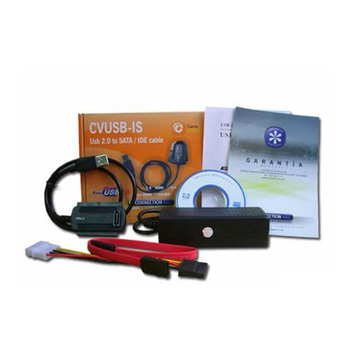 ADAPTADOR HDD CONNECTION USB2.0 IDE/SATA 2.5''/3.5'' | Quonty.com | CVUSB-IS