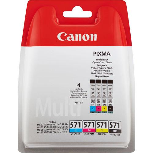 MULTIPACK 4 CARTUCHOS TINTA CANON CLI-571 0386C004 | Quonty.com | 0386C004