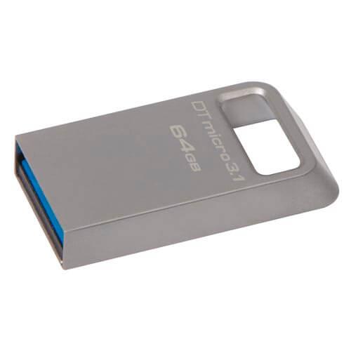 PENDRIVE KINGSTON 64GB USB3.1 DT MICRO 3.1 | Quonty.com | DTMC3/64GB