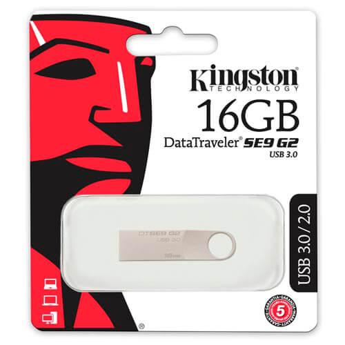 PENDRIVE KINGSTON 16GB USB3.0 DT SE9 G2 | Quonty.com | DTSE9G2/16GB