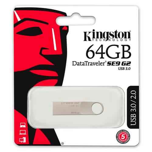 PENDRIVE KINGSTON 64GB USB3.0 DT SE9 G2 | Quonty.com | DTSE9G2/64GB