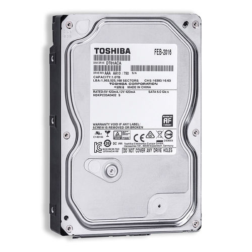 HDD TOSHIBA 3.5'' 1TB 7200RPM 32MB SATA3 | Quonty.com | DT01ACA100