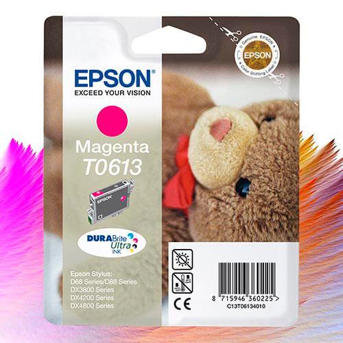 EPSON C13T06134010 1/1 TINTA MAGENTA 1/ 8/1568   Quonty.com   C13T06134020