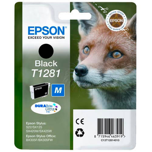 TINTA EPSON C13T12814010 NEGRA S22/SX420/SX425/BX3   Quonty.com   C13T12814010