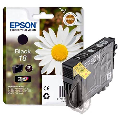 TINTA EPSON C13T18014010 Nº 18 NEGRO | Quonty.com | C13T18014010