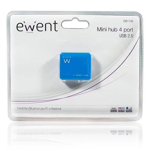 HUB 4 PTOS EMINENT-EWENT AZUL USB2.0 | Quonty.com | EW1126