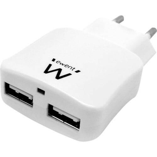 CARGADOR USB PARED EMINENT EW1210 2PTOS 2.1A   Quonty.com   EW1210