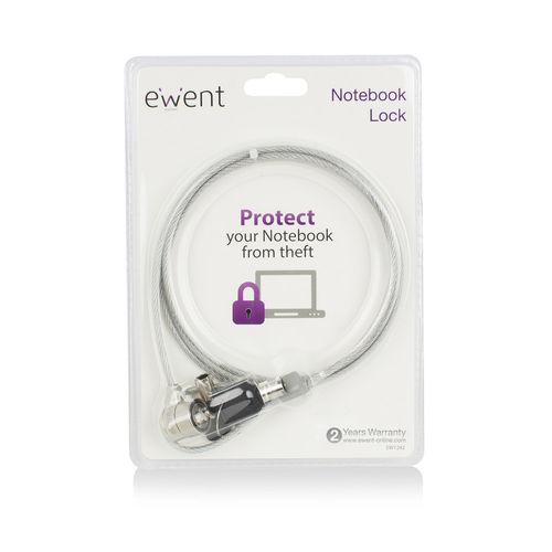 Cable Seguridad Ewent Ew1242 Portatil 1,5m | Quonty.com | EW1242