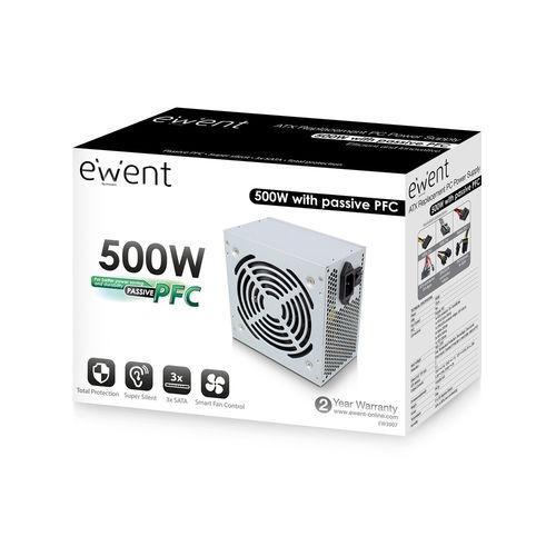 Fuente Alimentacion 500w Ewent Ew3907 Pfc-Activo 3sata 12cm | Quonty.com | EW3907