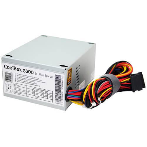 FUENTE ALIMENTACION 300W COOLBOX 80+BRONCE 3SATA 1MOLEX 8CM SFX   Quonty.com   FALCOO300SBZ