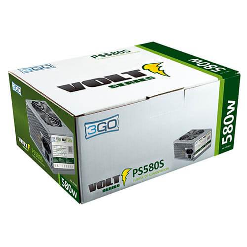Fuente 3go 580w 2sata 12cm Atx | Quonty.com | PS580S
