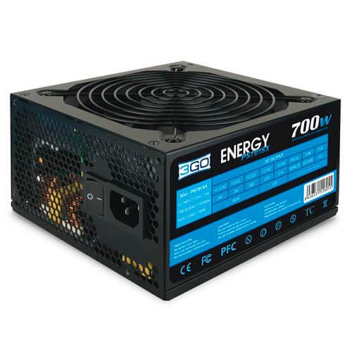 FUENTE ALIMENTACION 700W 3GO PFC-PASIVO 4SATA 12CM ATX | Quonty.com | PS701SX