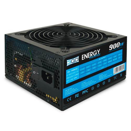 FUENTE ALIMENTACION 900W 3GO PFC-PASIVO 4SATA PCI-E 12CM ATX | Quonty.com | PS901-SX