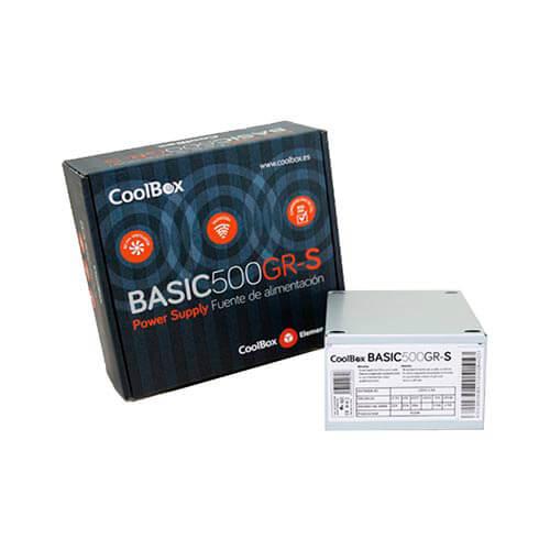 FUENTE ALIMENTACION 500W COOLBOX 500GR-S 3SATA MOLEX 8CM SFX   Quonty.com   FALCOO500SGR
