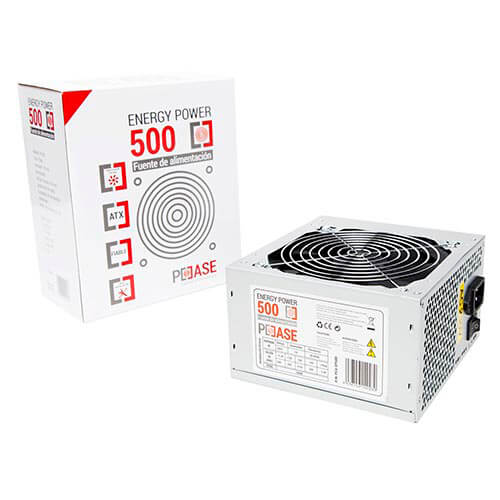 FUENTE ALIMENTACION 500W COOLBOX 2SATA 12CM ATX | Quonty.com | FALPCCEP500