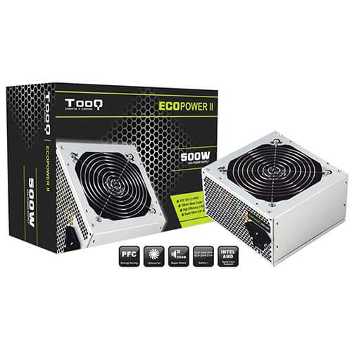 Fuente Tooq Ecopower Ii 500w Pfc-Pasivo 12cm Atx | Quonty.com | TQEP-500SP