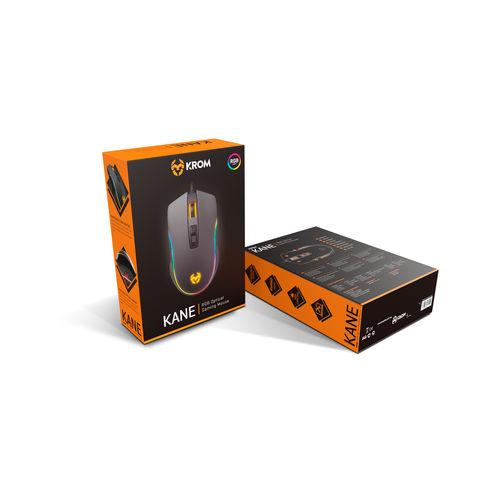 RATON KROM KANE GAMING USB OPTICO DPI AMBIDEXTRO | Quonty.com | NXKROMKANE