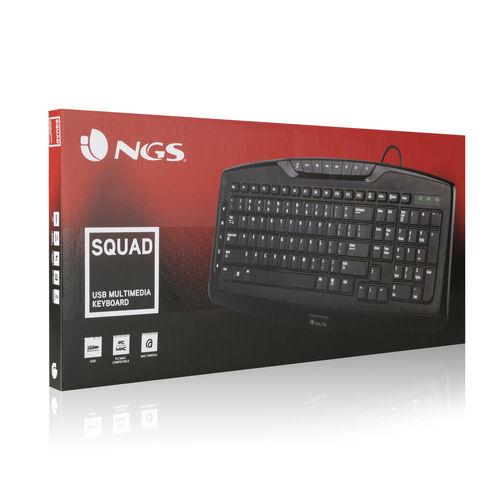 TECLADO NGS QZERTY USB NEGRO | Quonty.com | SQUAD