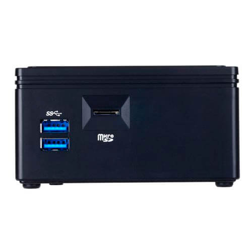 BAREBONE GIGABYTE BRIX BACE-3150 CEL S/HDD2.5 S/SO-DIMM 2USB3.0 HDMI WIFI.AC+BT4.0 L.TARJETAS VESA | Quonty.com | GB-BACE-3150