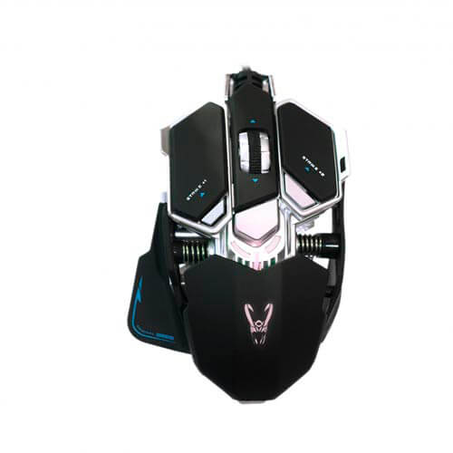 RATON WOXTER STINGER GX250M GAMING OPTICO 800-2000DPI USB NEGRO LED | Quonty.com | GM26-015