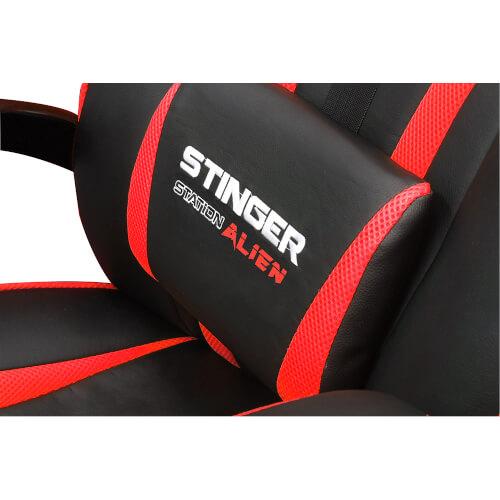 SILLA GAMING WOXTER STINGER STATION ALIEN ROJO | Quonty.com | GM26-055