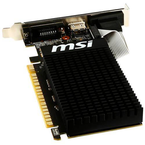 MSI GT710-1GD3H LP 1GB DDR3 PCIE2.0 LP | Quonty.com | 912-V809-1899