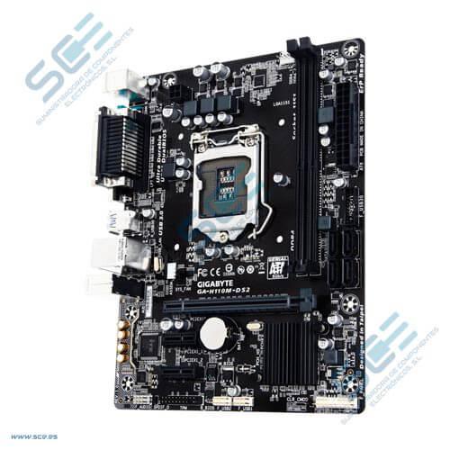PLACA GIGABYTE H110M-DS2 INTEL1151 2DDR4 VGA PCIE3.0 4SATA3 4USB3.0 MATX | Quonty.com | GA-H110M-DS2