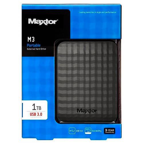 HDD SEAGATE EXT 2.5'' 1TB USB3.0 MAXTOR M3 NEGRO | Quonty.com | STSHX-M101TCBM