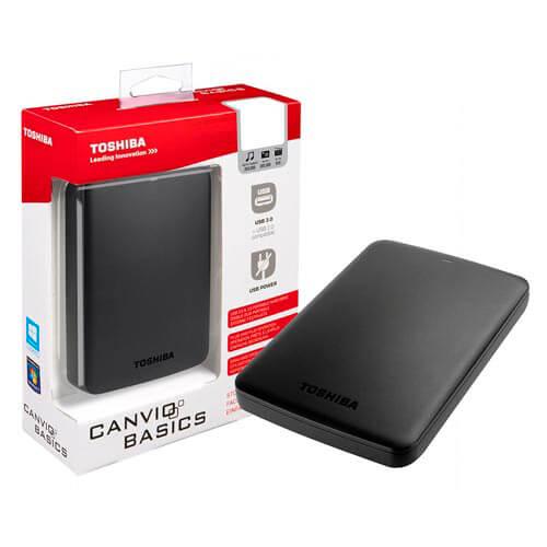 HDD TOSHIBA EXTERNO 2.5'' 1TB USB3.0 CANVIO BASIC NEGRO | Quonty.com | HDTB310EK3AA