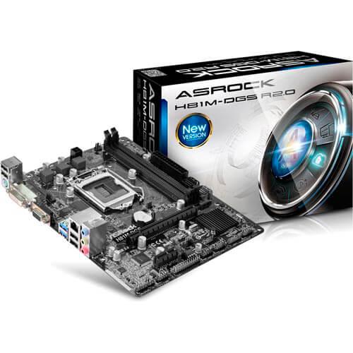 PLACA ASROCK H81M-DGS R2.0 INTEL1150 2DDR3 DVI SATA3 USB3.0 MATX | Quonty.com | 90-MXGS60-A0UAYZ