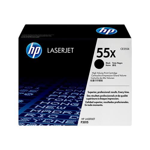 TONER HP CE255X Nº55X NEGRO 12.500PAG ALTA CAPACIDAD | Quonty.com | CE255X