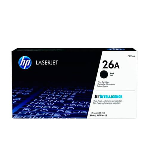 TONER HP CF226A Nº 26 NEGRO | Quonty.com | CF226A
