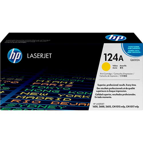 TONER HP Q6002A Nº124A AMARILLO 2.000PAG | Quonty.com | Q6002A
