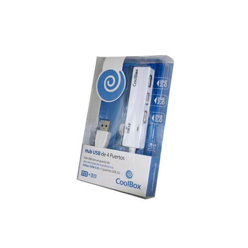 HUB COOLBOX 4 PTOS (3 USB2.0 + 1 USB3.0) | Quonty.com | COO-H413