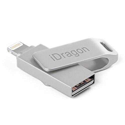 PENDRIVE IDRAGON 32GB DUO LIGHTNING / USB   Quonty.com   IDRAGON-LU-32GB