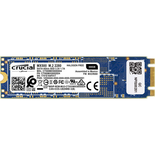 Ssd Crucial Ct500mx500ssd4 Mx500 M.2 Type 2280s 500gb | Quonty.com | CT500MX500SSD4