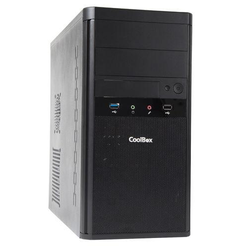 Caja Torre Coolbox M55 Micro Atx C/Fuente 2xusb3.0 Negro | Quonty.com | COO-PCM55-1