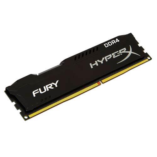 MEMORIA KINGSTON DIMM DDR4 4GB 2133MHZ CL14 1.2V HYPERX FURY BLACK | Quonty.com | HX421C14FB/4