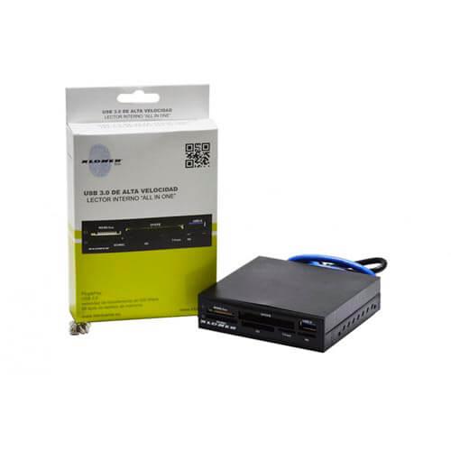 MULTILECTOR INTERNO 3.5'' KLONER KLT102 TARJETAS FLASH / USB3.0 | Quonty.com | KLT102