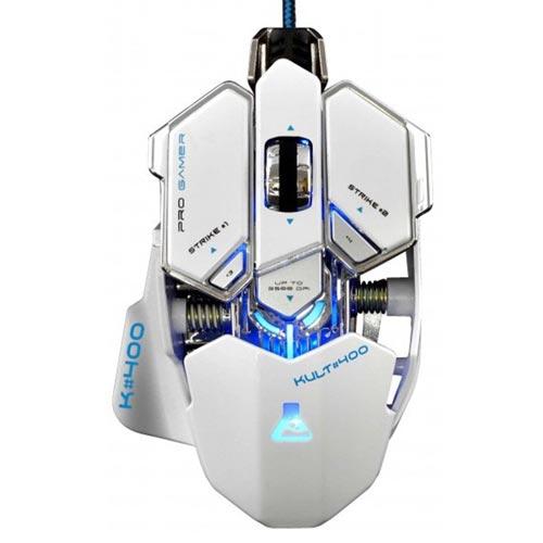RATON BLUESTORK KULT 400 OPTICO 4000DPI USB BLANCO | Quonty.com | KULT400/W