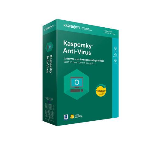 ANTIVIRUS KASPERSKY 2019 - 1 LICENCIA / 1 AÑO - NO CD | Quonty.com | KL1171S5AFS-9