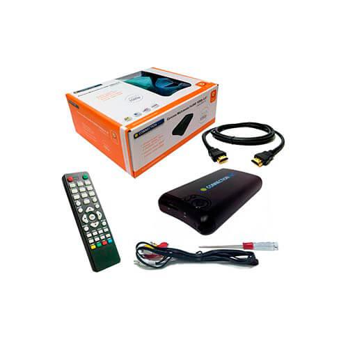 CAJA HDD MULTIMEDIA CONNECTION 2.5'' SATA USB2.0 C/CABLE HDMI NEGRA | Quonty.com | LHD2.5MP-TV
