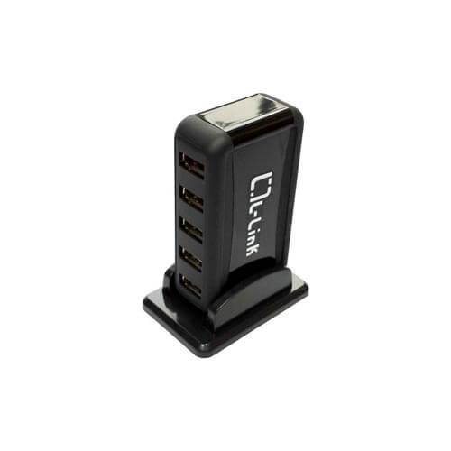 HUB L-LINK 7 PTOS USB 2.0 + ALIMENTACIÓN EXTERNA | Quonty.com | LL-UH-707L
